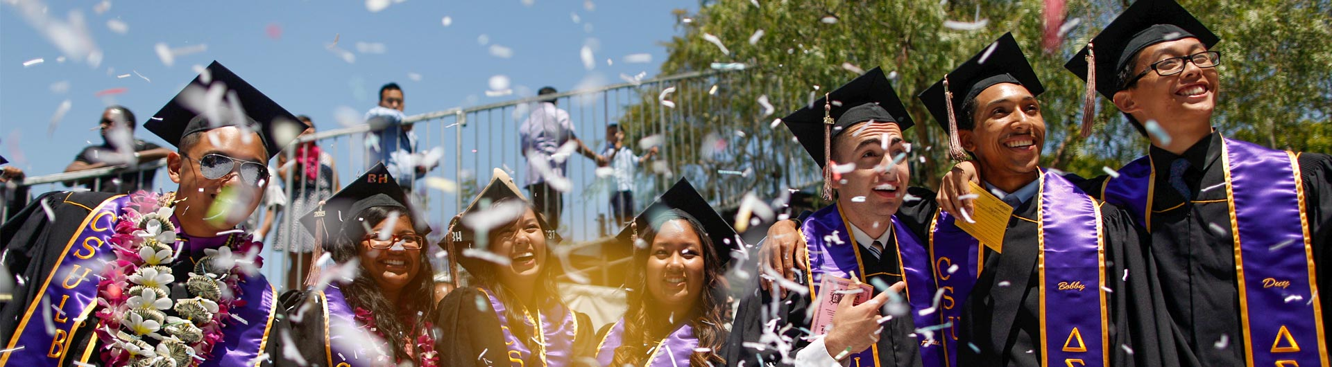 Students at the CSULB Commencement Ceremonies