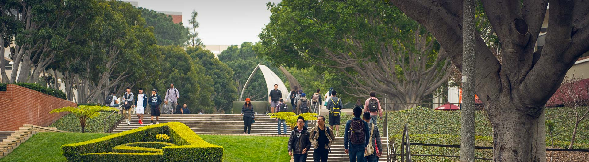 CSULB Campus Steps with Students