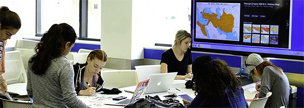 Students work in an ALC Classroom