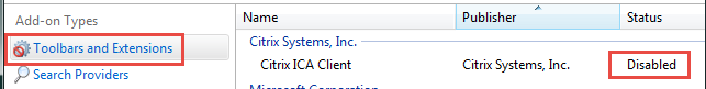 Finding the Citrix ICA Client