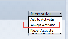 How to select Always Activate