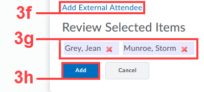 Add external attendees