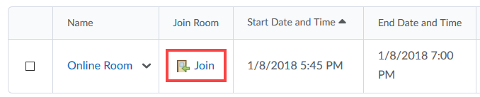 Join Room Button