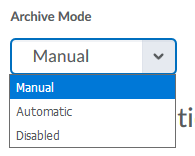Online Room Archive mode settings