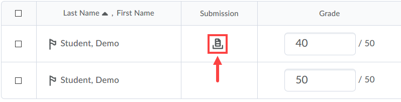 user submissions icon