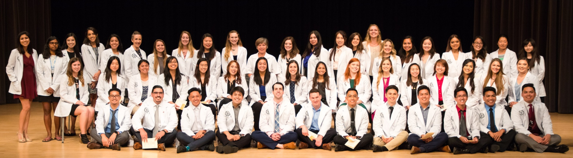 Nursing students receive white coats