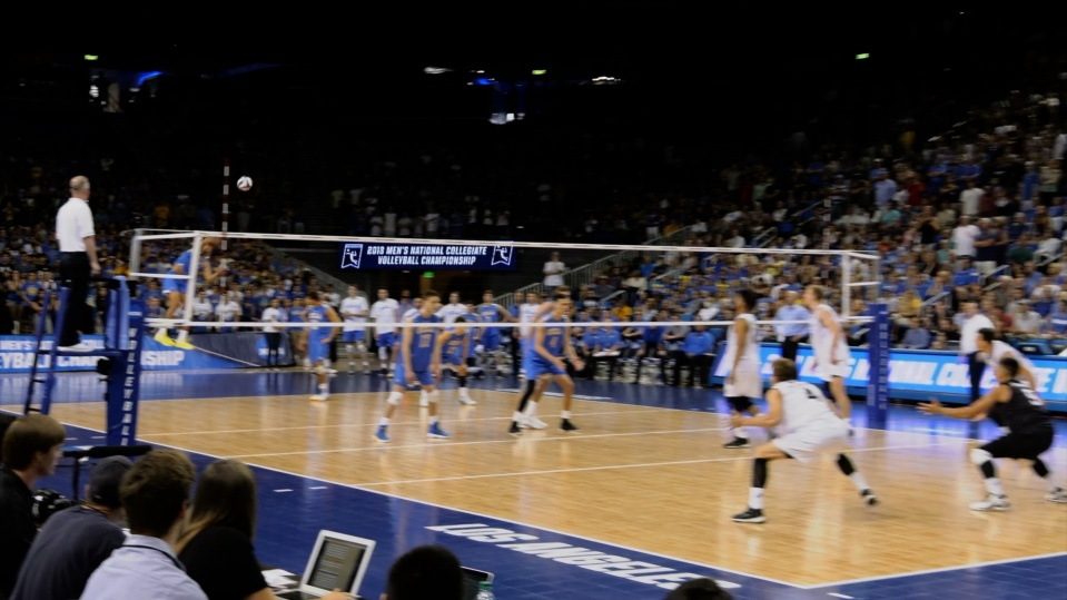 Volleyball team wins the National Championship.