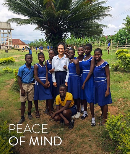 Peace Corps student with community members