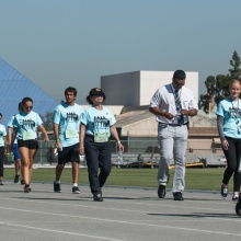 walkers take part in Move in our shoes event