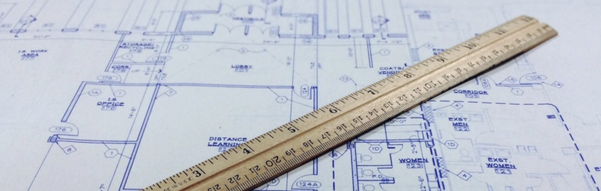 Blueprints with a ruler