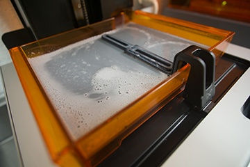 FormLabs liquid resin bath