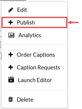 Publish highlighted