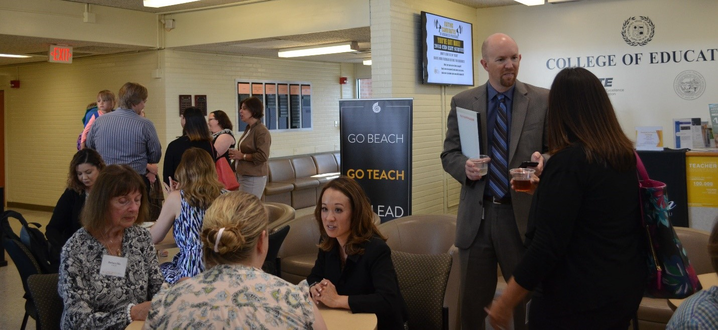District partners, CSULB faculty, and students gather at first annual Research to Practice Exchange event