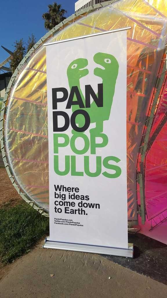 Launch event banner Pando Populus Where big ideas come down to Earth