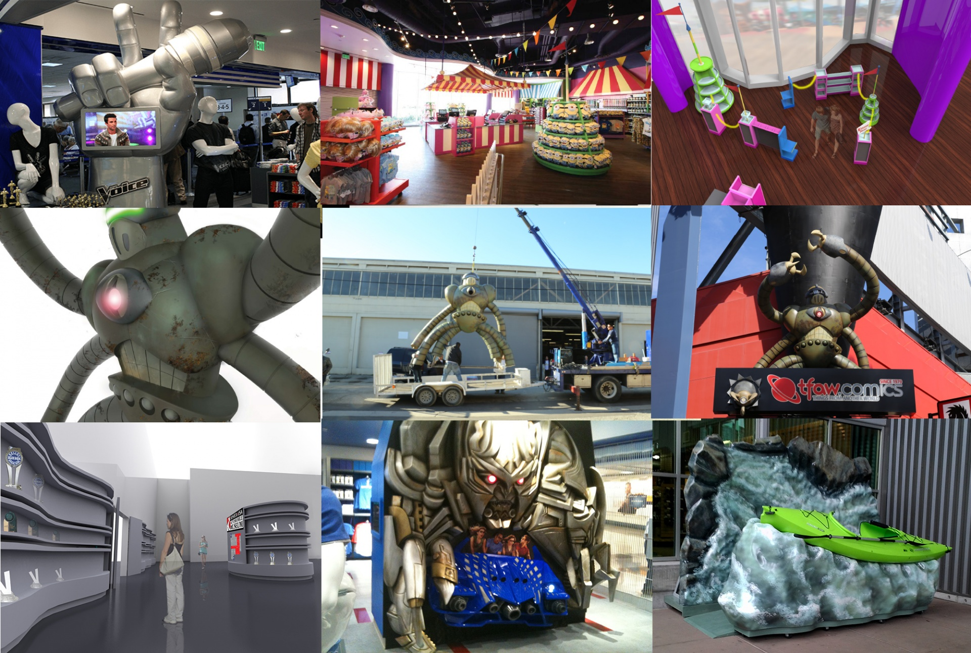 various projects image array