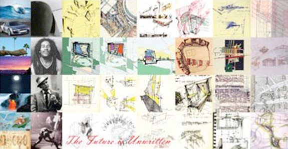 A compilation of different photographs and drawings.