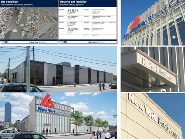 A compilation of images showing the exterior of a building.